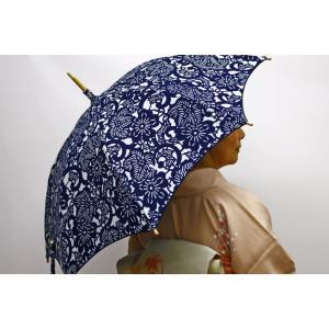 藍夢 手づくり日傘(超撥水加工・晴雨兼用)日本製|wa-raku