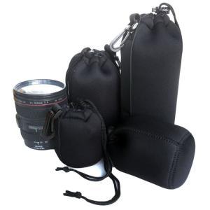 カメラレンズケース ポーチ 4点セット 一眼レフ 望遠 広角 レンズ保護 送料無料