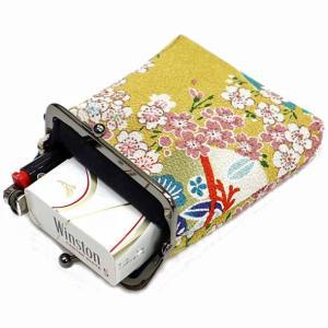 メール便 和柄タバコケース メンズレディースちりめんがま口シガレットケース おしゃれ小物入れポーチたばこ入れ 日本製 wa-wa 04