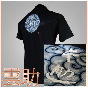 メール便 和柄Tシャツ半袖 メンズレディース 日本製 丸首 クルーネック 和風風情 大人おしゃれカジュアル 倭人雲助 wa-wa
