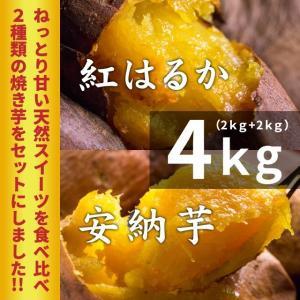 薩摩 蜜焼き芋 紅はるか&安納芋セット 4kg (冷凍焼き芋...