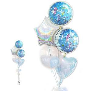 キラキラ輝くベビーに☆ プレゼント バルーンギフト 出産祝プリズムボーイ5バルーンセット wac-up