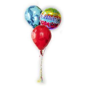 おめでとう 祝電 お祝い バルーンギフト バルーン電報 CGレインボーパーフェクト3バルーンセット|wac-up