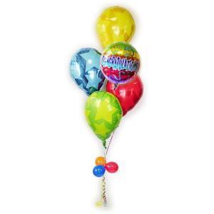 開店祝い OPEN祝い 縁起が良い お祝い プレゼント 元気なバルーン ギフト バルーン電報 CGレインボー&パーフェクト5バルーンセット|wac-up