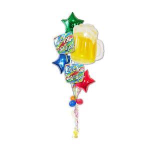 ビールで乾杯!グランパラブユースクエア6バルーンセット<補充缶付> 敬老の日・還暦・誕生日 wac-up