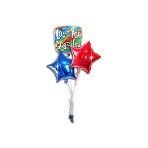 グランパラブユースクエア スター3バルーンセット<補充缶付> 敬老の日・還暦祝い wac-up