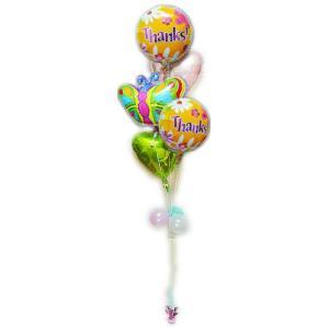 お返し お礼 ギフト 内祝い 感謝の気持ち バルーン電報 バルーンギフト ありがとうフライトファンシー&バタフライ5バルーン|wac-up