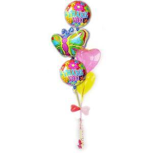 お返し プレゼント お礼 ギフト 感謝 個性的 鮮やかな色のバルーン バルーンギフト TK ブライトバタフライ5バルーンセット(TK00035002)|wac-up