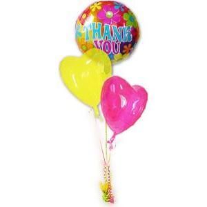 お礼 ギフト お返し 内祝い 感謝の気持ち バルーン電報 バルーンギフト TKレトロマジカラー3バルーンセット|wac-up