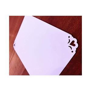 無料カードからアップグレード♪ 結婚式 誕生日 記念日【メッセージカード:1面コーナーハート】|wac-up