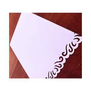 無料カードからアップグレード♪ 結婚式 誕生日 記念日【メッセージカード:1面ボーダープレシャス】|wac-up