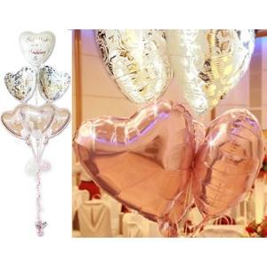 結婚 電報 祝電 バルーン電報  結婚式 バルーンギフト 結婚祝エレガントピンク6バルーン|wac-up