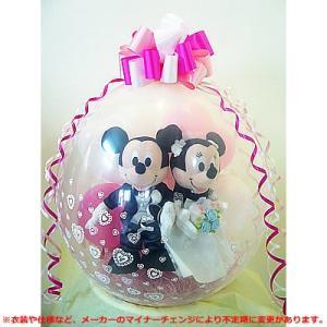 結婚式 ぬいぐるみ電報 バルーンラッピング:ブライダル(M)洋装ミッキーミニー|wac-up