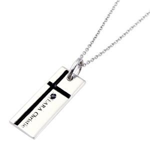 ララクリスティー ネックレス シルバーアクセサリー メンズ ノーブル クロス BLACK Label p3051-b|wafg
