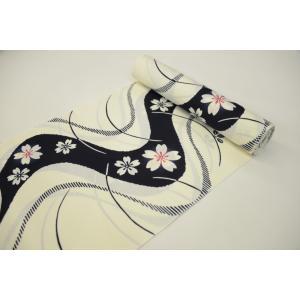 −わ・ふうの浴衣− 経絽浴衣「流水に花」|wafuu-store