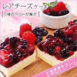 5種のベリー贅沢 レアチーズケーキ 約280g 北海道 お取り寄せ お土産 ギフト プレゼント 特産品 名物商品 バレンタイン おすすめ wagamachi-tokusan