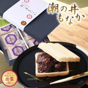 潮の井もなか 16個入 出雲市銘菓 お取り寄せ お土産 ギフト プレゼント 特産品 名物商品 父の日|wagamachi-tokusan