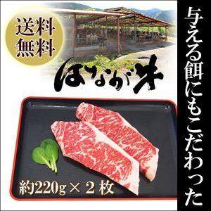 愛媛県 ゆうぼくの里 はなが牛 サーロインステーキ 約220g 2枚セット お取り寄せ お土産 ギフト プレゼント 特産品 名物商品 お中元 御中元|wagamachi-tokusan