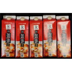 いづみや珈琲 氷DE珈琲 リキッドコーヒー 1000ml 無糖5本入り ギフトセット お取り寄せ お土産 ギフト プレゼント 特産品 名物商品 父の日|wagamachi-tokusan