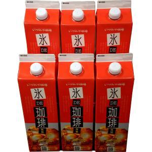 いづみや珈琲 氷DE珈琲 リキッドコーヒー 1000ml 無糖6本入り お取り寄せ お土産 ギフト プレゼント 特産品 名物商品 父の日|wagamachi-tokusan