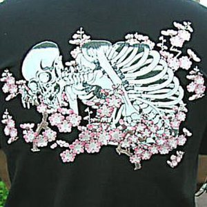 「ガシャドクロ」和柄 ポロシャツ 半袖 長袖 七分丈 骸骨 ドクロ スカル