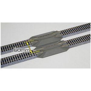 KATO 2-142 (HO)リレーラー線路 123mm (4949727664873)