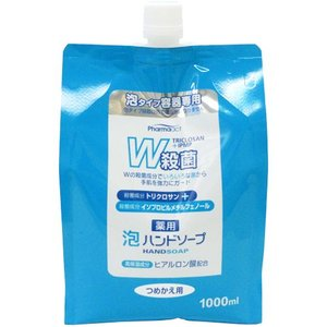 ハンドソープ  つめかえ用 Pharmaact 薬用泡 W殺菌 1000ml  熊野油脂
