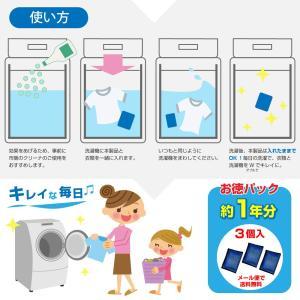 衣類と洗濯槽のW除菌Ag+ 3個入(約1年分)洗濯槽の除菌・抗菌・ニオイ・カビに 銀系無機抗菌剤 日本製 クリーナー 部屋干しに 送料無料 ポイント消化 大掃除|wagonsale|05