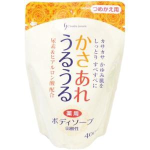 弱酸性 かさあれうるうる 薬用ボディソープ 詰替え 400ml 日本石鹸
