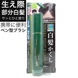 日高昆布 白髪かくし ブラック 20g 部分白髪隠し 日本製 筆 ブラシタイプ メンズ レディース「メール便で送料無料」「ネコポス」|wagonsale