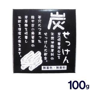 炭 石鹸 炭せっけん 地の塩社 100g|wagonsale
