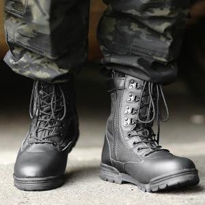 新品 米軍 サイドジッパー タクティカルブーツ メンズ ミリタリーブーツ サバゲー 靴 シューズ 装...