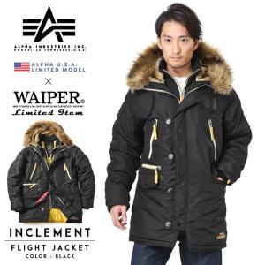 店内20%OFFセール! 日本未発売 ALPHA USA アルファ N-3B INCLEMENT インクレメント フライトジャケット メンズ ミリタリー ブランド 20603|waiper