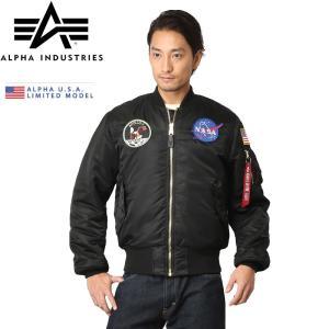 日本未発売 ALPHA アルファ USA NASA APOLLO MA-1 MA1 フライトジャケット メンズ ミリタリー 21018|waiper