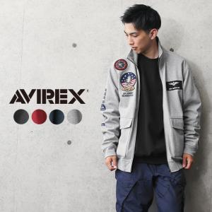 AVIREX アビレックス 6103517 TOP GUN ウインドガードジャケット メンズ スウェット スタンドジップ トップガン ミリタリー ブランド【クーポン対象外】|waiper