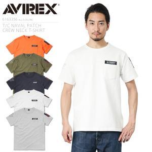 AVIREX アビレックス 6163356 T/C NAVAL PATCH クルーネックTシャツ メ...