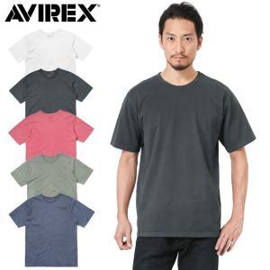 セール69%OFF!AVIREX アビレックス 6173316 S/S プロセシング Tシャツ メンズ カットソー 半袖 無地 厚手 ミリタリー ブランド【クーポン対象外】|waiper