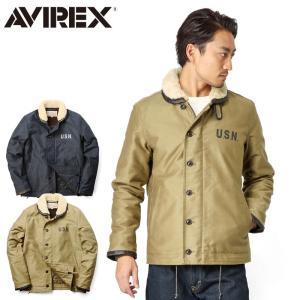クーポン10%OFF! AVIREX アヴィレックス アビレックス N-1 デッキジャケット プレーン メンズ ミリタリー ブルゾン ジャンパー 6152199|waiper