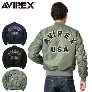 AVIREX アビレックス アヴィレックス MA-1 CM LOGO MIL-J-8279E フライトジャケット ミリタリー ジャンパー ブルゾン 6162164|waiper