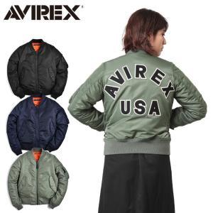AVIREX アビレックス アヴィレックス レディース MA-1 CM LOGO フライトジャケット 6262078|waiper