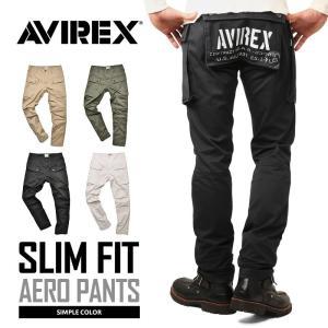 ポイント10倍!AVIREX アビレックス 6166124 エアロ カーゴパンツ スリムフィット メンズ 5ポケット M-44 ミリタリー タイト 送料無料【クーポン対象外】|waiper