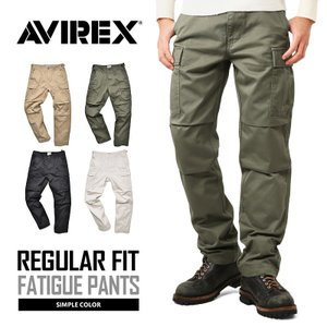 AVIREX アビレックス アヴィレックス FATIGUE PANTS ファティーグ カーゴパンツ レギュラーフィット メンズ ミリタリーパンツ 6166110 ブランド|waiper