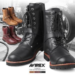 AVIREX アビレックス アヴィレックス バックルブーツ YAMATO メンズ ブーツ バイカーブーツ 【クーポン対象外】 ブランド|waiper