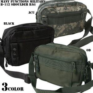 ミリタリーバッグ 新品 多機能 B-112 ミリタリーショルダーバッグ 3色 ショルダーバッグ バッグ|waiper