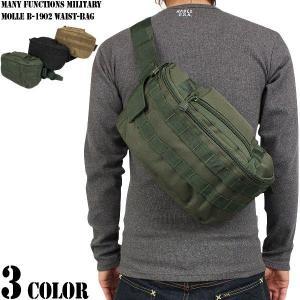 クーポン10%OFF! 選べる3色!ミリタリーバッグ 多機能 ミリタリー B-1902 ウエストバッグ 3色 / ウエストバッグ|waiper