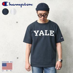 Champion チャンピオン C5-T303 T1011 ポケットTシャツ YALE MADE IN USA アメリカ製 メンズ 半袖 イエール イェール カレッジプリント アメカジ ブランド 新作|waiper