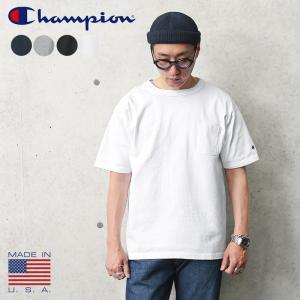 Champion チャンピオン T1011 ポケットTシャツ MADE IN USA C5-B303 アメリカ製 メンズ 厚手 肉厚 ヘビーウェイト 半袖 ポケT アメカジ ブランド 新作|waiper