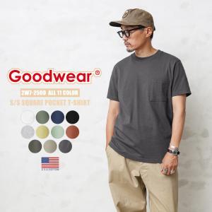 Goodwear グッドウェア 2W7-2500 S/S 四角ポケット Tシャツ メンズ ポケT 厚手 肉厚 半袖 無地 インナー アメカジ ブランド waiper