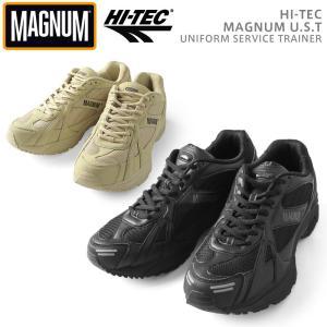 HI-TEC ハイテック MAGNUM マグナム U.S.T タクティカルシューズ ビブラムソール メンズ 厚底 ミリタリーシューズ 靴 スニーカー ハイテク ブランド イギリス軍|waiper
