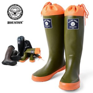 店内20%OFFセール! HOUSTON ヒューストン RAIN BOOTS レイン ブーツ 長靴 ミリタリー パッカブル エアーフォース 6516 ブランド|waiper
